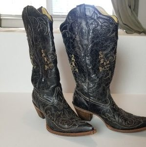 Corral Vintage Lizard Inlay Western Cowgirl Boot